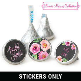 "Floral Embrace Bridal Shower 3/4"" Sticker (108 Stickers)"