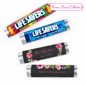 Personalized Bridal Shower Floral Embrace Lifesavers Rolls (20 Rolls)