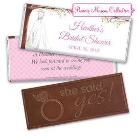 Personalized Bonnie Marcus Embossed Chocolate Bar & Wrapper - Wonderful Wedding Dress