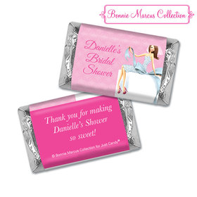 Personalized Hershey's Miniatures - Bonnie Marcus Bridal Shower Beautiful Bride with Bow Brunette