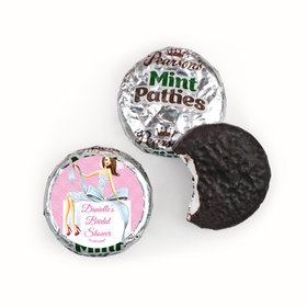 Personalized Pearson's Mint Patties - Bonnie Marcus Wedding Beautiful Bride with Bow Brunette