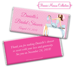 Personalized Bonnie Marcus Chocolate Bar & Wrapper - Bridal Shower Brunette Bride