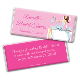 Personalized Bonnie Marcus Chocolate Bar Wrappers Only - Bridal Shower Brunette Bride