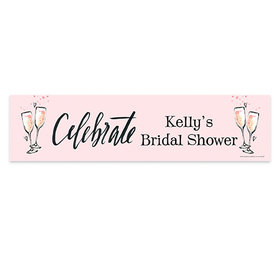 Personalized The Bubbly Bridal Shower 5 Ft. Banner