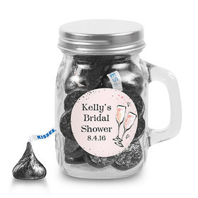 Bonnie Marcus Collection Personalized Mini Mason Jar - The Bubbly Custom Bridal Shower (12 Pack)