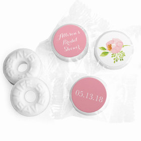 Personalized Life Savers Mints - Bonnie Marcus Wedding Pink Botanical Wreath