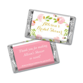 Personalized Mini Wrappers Only - Bonnie Marcus Bridal Shower Pink Botanical Wreath