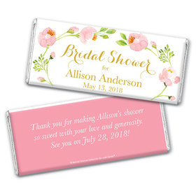 Personalized Bonnie Marcus Chocolate Bar & Wrapper - Bridal Shower Botanical Wreath