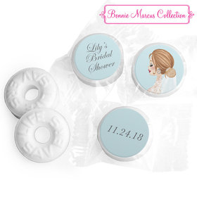 Personalized Life Savers Mints - Bonnie Marcus Wedding Vintage Veil Brunette