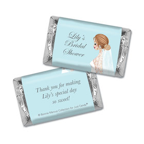Personalized Mini Wrappers Only - Bonnie Marcus Bridal Shower Vintage Veil Brunette