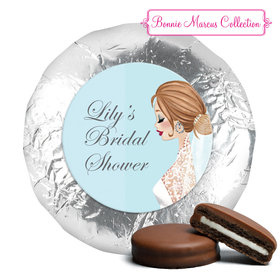 Personalized Milk Chocolate Covered Oreos - Bonnie Marcus Wedding Vintage Veil Brunette (24 Pack)