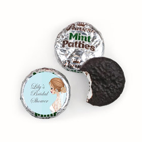 Personalized Pearson's Mint Patties - Bonnie Marcus Wedding Vintage Veil Brunette