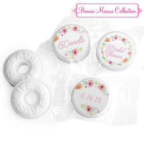 Personalized Life Savers Mints - Bonnie Marcus Wedding Water Color White Blossoms