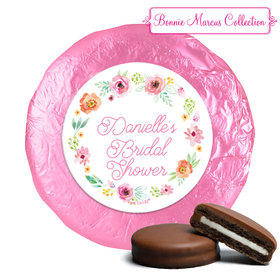 Personalized Milk Chocolate Covered Oreos - Bonnie Marcus Wedding Water Color White Blossoms (24 Pack)