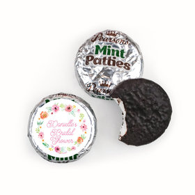 Personalized Pearson's Mint Patties - Bonnie Marcus Wedding Water Color White Blossoms