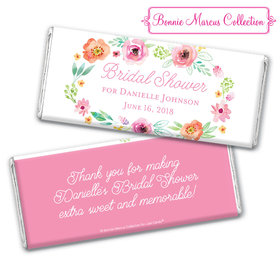 Personalized Bonnie Marcus Chocolate Bar & Wrapper - Bridal Shower Watercolor Blossoms