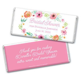 Personalized Bonnie Marcus Chocolate Bar Wrappers Only - Bridal Shower Watercolor Blossoms