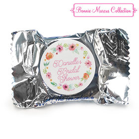 Personalized York Peppermint Patties - Bonnie Marcus Wedding Water Color White Blossoms
