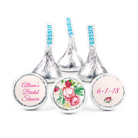 Personalized Hershey's Kisses - Bonnie Marcus Bridal Shower Fabulous Floral (50 Pack)