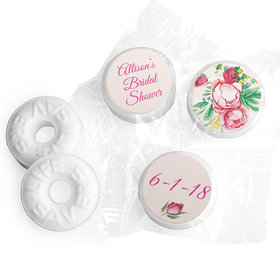 "Personalized 3/4"" Stickers - Bonnie Marcus Bridal Shower Fabulous Floral (108 Stickers)"