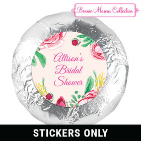 "Personalized 1.25"" Stickers - Bridal Shower Fabulous Floral (48 Stickers)"