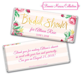 Personalized Bonnie Marcus Chocolate Bar & Wrapper - Bridal Shower Fabulous Floral