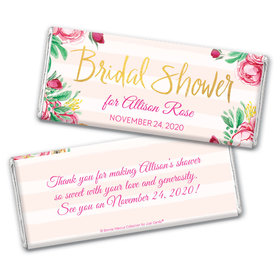 Personalized Bonnie Marcus Chocolate Bar Wrappers Only - Bridal Shower Fabulous Floral