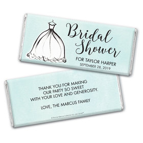 Personalized Bonnie Marcus Bridal Shower Elegance Chocolate Bar Wrappers