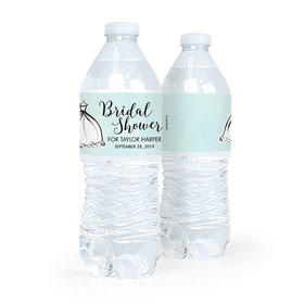 Personalized Bridal Shower Elegance Water Bottle Sticker Labels (5 Labels)