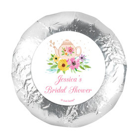 """Personalized 1.25"""" Stickers - Bridal Shower Reception Garden Tea Party (48 Stickers)"""