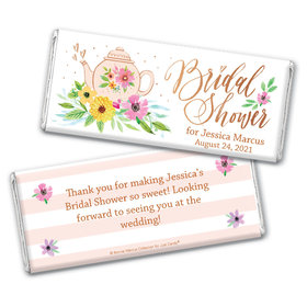 Personalized Bonnie Marcus Bridal Shower Garden Tea Party Chocolate Bar Wrappers