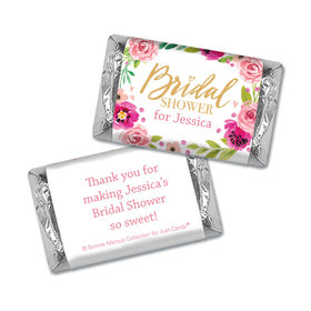 Personalized Bonnie Marcus Bridal Shower Magenta Florals Mini Wrappers