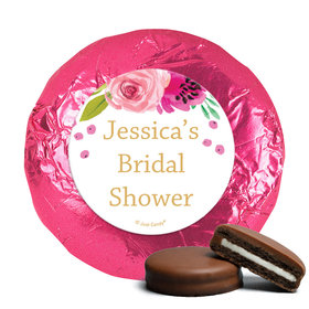 Personalized Chocolate Covered Oreos - Bridal Shower Reception Magenta Florals (24 Pack)