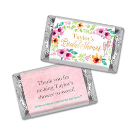 Personalized Bonnie Marcus Bridal Shower Botanical Bubbly Hershey's Miniatures