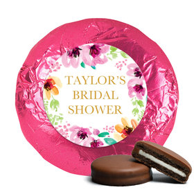 Personalized Chocolate Covered Oreos - Bridal Shower Reception Botanical Bubbly (24 Pack)