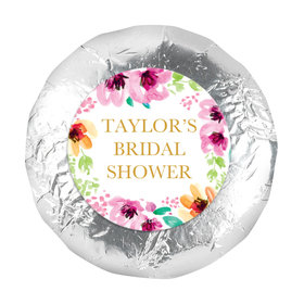 "Personalized 1.25"" Stickers - Bridal Shower Reception Botanical Bubbly (48 Stickers)"