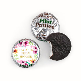 Personalized Pearson's Mint Patties - Bridal Shower Reception Botanical Bubbly