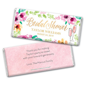 Personalized Bonnie Marcus Bridal Shower Botanical Bubbly Chocolate Bar