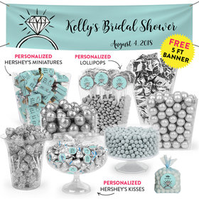 Personalized Bridal Shower Last Fling Deluxe Candy Buffet