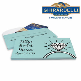 Deluxe Personalized Last Fling Bridal Shower Ghirardelli Chocolate Bar in Gift Box