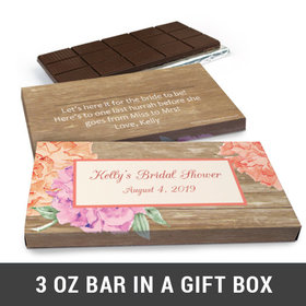 Deluxe Personalized Blooming Joy Chocolate Bar in Gift Box (3oz Bar)
