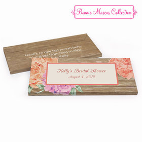 Deluxe Personalized Blooming Joy Bridal Shower Chocolate Bar in Gift Box