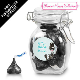 Bonnie Marcus Collection Personalized Latch Jar Bridal Shower Showered in Vogue Personalized (6 Pack)