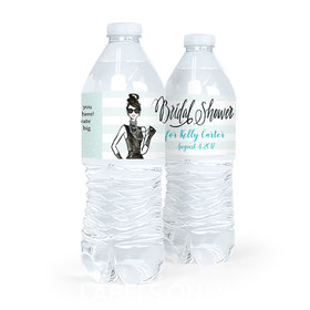 Personalized Bridal Shower Showered in Vogue Water Bottle Sticker Labels (5 Labels)