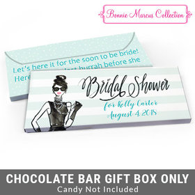 Deluxe Personalized Showered in Vogue Bridal Shower Candy Bar Cover