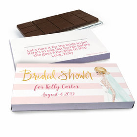 Deluxe Personalized Bridal March Chocolate Bar in Gift Box (3oz Bar)