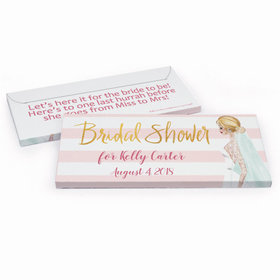 Deluxe Personalized Bridal March Bridal Shower Chocolate Bar in Gift Box