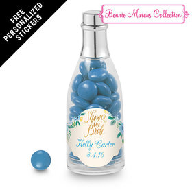 Bonnie Marcus Collection Personalized Champagne Bottle - Bridal Shower Here's Something Blue Personalized (25 Pack)