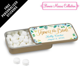 Bonnie Marcus Collection Personalized Mint Tin Bridal Shower Here's Something Blue Personalized (12 Pack)