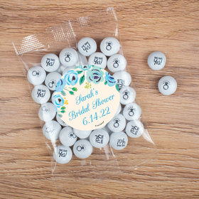 Personalized Bridal Shower Candy Bag with JC Chocolate Minis - Here's Something Blue